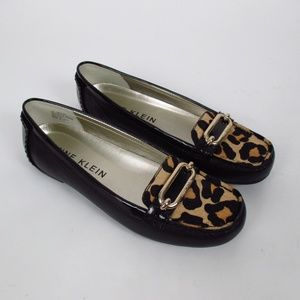 Anne Klein Leather Moccasin Leopard NWT Size 10